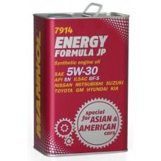 Масло моторное Mannol ENERGY Formula JP 5W-30 4 литра